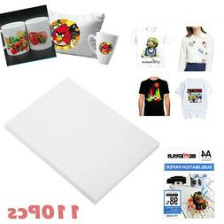 110 Sheets A4 Dye Sublimation Paper Iron On Heat Transfer fo