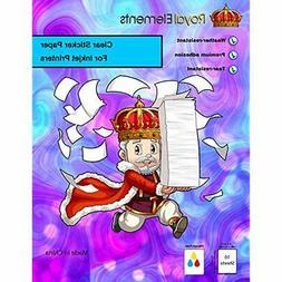 Clear Waterproof Sticker Paper 10 Sheets Printable Vinyl For