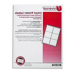 Universal office products 80204 inkjet printer labels- 3-1/3