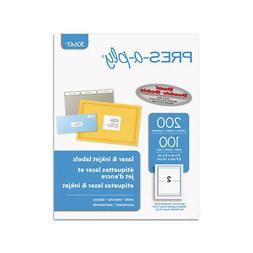 Laser/Inkjet Shipping Labels, 5 1/2 x 8 1/2, White, 200/Pack