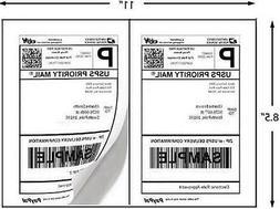 Laser/Inkjet Printer Labels 1000 Half Sheet Labels 8.5 x 5 I